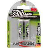 ANSMANN Photo HR6 Nickel-Metall-Hydrid AA Mignon Akku 2400 mAh 2er Pack