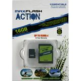 16 GB MAXFLASH Action microSDHC Class 10 U3 Retail inkl. Adapter auf SD