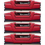 16GB G.Skill RipJaws V rot DDR4-3000 DIMM CL15 Quad Kit