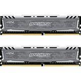 16GB Crucial Ballistix Sport LT grau DDR4-2400 DIMM CL16 Dual Kit