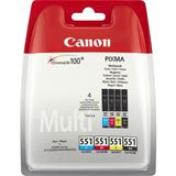 Canon Tinte CLI-551 6508B005 schwarz, cyan, magenta, gelb