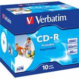Verbatim CD-R 700 MB bedruckbar 10er Jewelcase (43325)