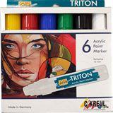 KREUL Acrylmarker SOLO Goya TRITON Acrylic 15.0, 6er-Set