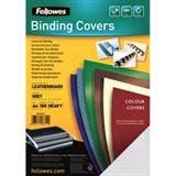 Fellowes Deckblatt Delta, Lederstruktur, DIN A4, grau