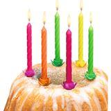 """SUSY CARD Geburtstagskerzen """"Neon"""", aus Wachs, Neonfarben"""