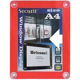 Securit Fenster-Plakatrahmen, DIN A4, rot