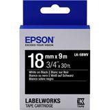 Epson Band vivid weiß/schwarz 18mm