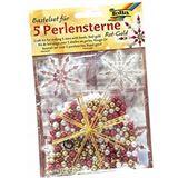 Folia folia Perlensterne-Set, 340-teilig, rot / gold / perlweiß