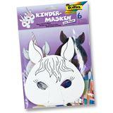 """folia Kindermasken """"Pferd/Einhorn"""", aus Pappe, weiß"""