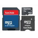 2GB SanDisk Secure Digital Card Micro (SD) inkl. Adapter