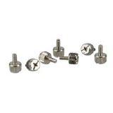InLine 6x 12mm silber Rändelschrauben für Gehäuse (77770A)