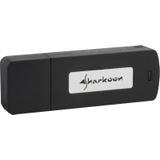 2GB Sharkoon Flexi Drive EC2 Series Schwarz USB 2.0 Stick