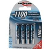 ANSMANN HR03 Nickel-Metall-Hydrid AAA Micro Akku 1050 mAh 4er Pack
