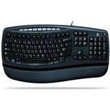 Logitech 450 Comfort Wave Tastatur Schwarz Deutsch USB OEM
