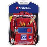 2 GB Verbatim Store `n` Go Carabiner blau USB 2.0