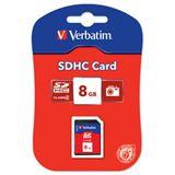 8 GB Verbatim Standard SDHC Class 4 Bulk