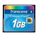 1 GB Transcend Standard Compact Flash TypI 80x Bulk