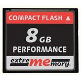 8 GB Extrememory Performance Compact Flash TypI 120x Bulk