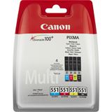 Canon Tinte CLI-551 Multipack 6509B009 schwarz, cyan, magenta, gelb