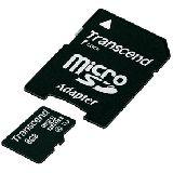 8 GB Transcend UHS-I microSDHC Class 10 Bulk inkl. Adapter auf SD