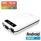 "Fantec MWiD25 2.5"" (6,35cm) LAN/USB 3.0/WLAN weiss"