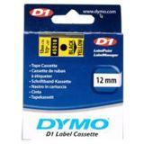 Dymo Schriftband B.12mm/L.7m sw auf gelb