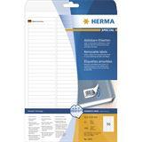 Herma 4202 ablösbar Universal-Etiketten 6.35x8.5 cm (25 Blatt (2400 Etiketten))