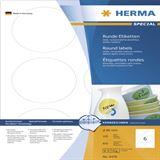 Herma 4478 rund ablösbar Universal-Etiketten 8.5x8.5 cm (100 Blatt (600 Etiketten))