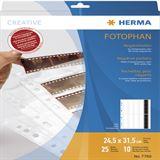 Herma Negativhüllen transparent für 10 x 4 Streifen 25 St.