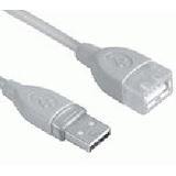 (€2,48*/1m) 2.00m InLine USB2.0 Verlängerungskabel USB A Stecker auf USB A Buchse Transparent