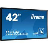 "42"" (106,68cm) iiyama TH4264MIS-B1 schwarz/silber 1920x1080 1xDP/1xDVI/1xHDMI 1.3/1xVGA/Component-Eingang (Y/Pb/Pr) /S-Video/BNC/USB"