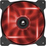 Corsair Air Series AF140 LED Red Quiet Edition 140x140x25mm 1200 U/min 25 dB(A) schwarz/transparent