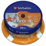 Verbatim DVD-R 4.7 GB bedruckbar 25er Spindel (43538)