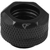 "Nanoxia Coolforce Fitting - Hard Tube Adapter gerade 1x Gewinde G1/4"" / 12mm schwarz"