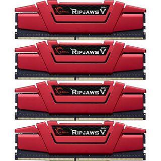 32GB G.Skill RipJaws V rot DDR4-2400 DIMM CL15 Quad Kit