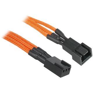 BitFenix 3-Pin Verlängerung 90cm - sleeved orange/schwarz