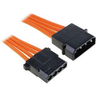 BitFenix Molex Verlängerung 45cm - sleeved orange/schwarz