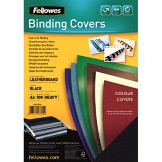 Fellowes Deckblatt Delta, Lederstruktur, DIN A4, schwarz