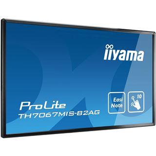 "70"" (177,80cm) iiyama ProLite TH7067MIS-B2AG schwarz 1920x1080 1xDVI / 1xComposite Video / 3xHDMI / 3x VGA"