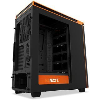 NZXT H440 V2 gedämmt mit Sichtfenster Midi Tower ohne Netzteil schwarz/orange