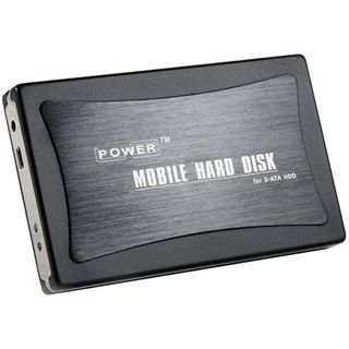 "LC-Power 00053165 2.5"" (6,35cm) USB 2.0 schwarz/silber"