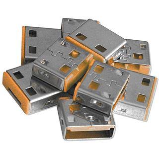 Lindy USB Port Schloss (10 Stück) OHNE Schlüssel: Orange
