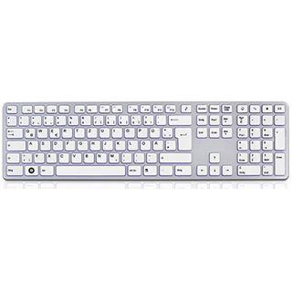 KeySonic KSK-8021U USB Deutsch weiß/silber (kabelgebunden)