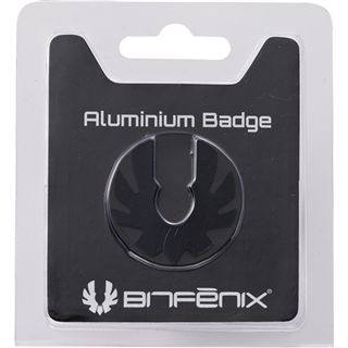 BitFenix Aluminium Badge schwarz Logo für Prodigy (BFC-PRO-300-KLOG-RP)
