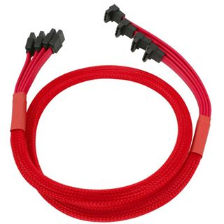 Nanoxia rotes 4-fach Kabel 85cm für SATA 3.0 (NXS6GRE)
