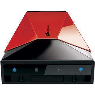 """1000GB Corsair Voyager Air CMFAIR-RED-1000-EU 3.5"""" (8.9cm) USB 3.0/LAN/WLan schwarz/rot"""