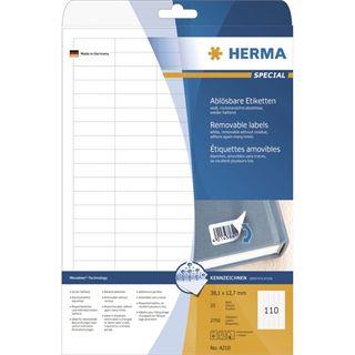 Herma 4210 ablösbar Universal-Etiketten 3.81x1.27 cm (25 Blatt (2750 Etiketten))