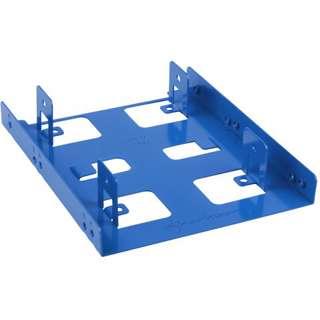 """Sharkoon 3.5"""" BayExtension blau Einbaurahmen für 2x 2.5"""" Festplatten (4044951013616)"""