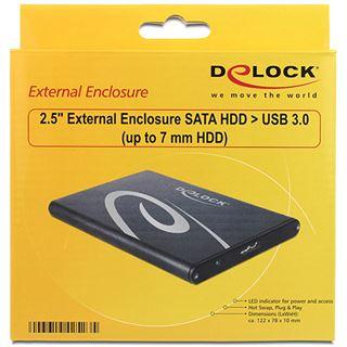 "Delock 42523 2.5"" (6,35cm) USB 3.0 schwarz"