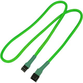 Nanoxia 60 cm sleeved neon grünes Verlängerungskabel für 3-Pin Molex (NX3PV60NG)